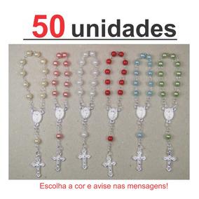 50 Mini Terços 4mm - Dezenas Para Lembrancinhas