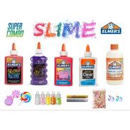 Pack Slime 4 Adhesivos + Incluye Brilla Oscuridad Elmers