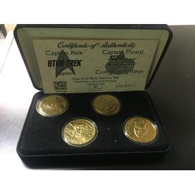 Monedas De Coleccion Star Trek Bañadas En Oro #87 De 500