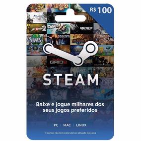 Gift Card Steam - Cartão Pré-pago R$ 100 Reais De Crédito