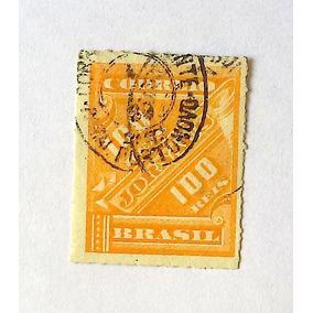 J4 Cifras Obliquas 100 Reis Jornais 1889 Rhm Us$ 10,00 Cari1