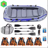 Bote Inflable Excursion 5 + 5 Chalecos + 4 Remos