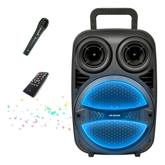 Parlante Bluetooth Portátil Mic Usb Mp3 Leds Led Regalo Env