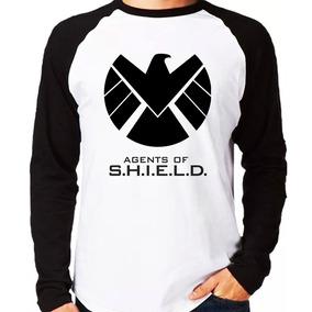 Manga Longa Agents Of Shield Série Blusa Camisa