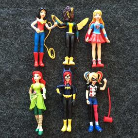 Kit 6 Bonecas Super Hero Girls Mulher Maravilha Arlequina