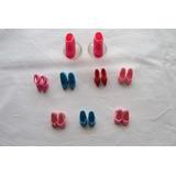 Lote De 8 Pares De Zapatos Variados Para Barbie, Algunos Ori