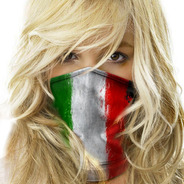 Bandana Mascara Lenço Bandeira Italia Pesca Metal 001