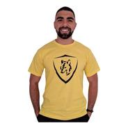 Camiseta Brasão Lobo Amarela C008