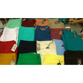 Bermudas Dril Pantalonetas Colores Variados Tallas 34 A 42