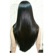 Aplique Igual Humano Preto/ Fibra Japonesa Igual Humano 60cm