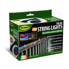 50 Solar Led String Lights 30ft Multicolor 2 Modos De Luces