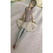 Lladro Figura Porcelana Original Bailarina De Ballet Sentada
