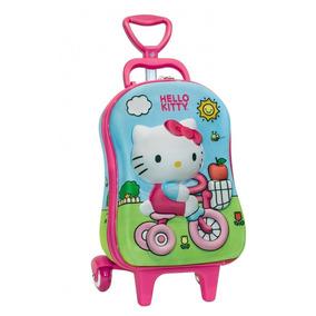 Mochila Com Rodinha Hello Kitty Mini 30x22x17cm 2823p16 Dipl