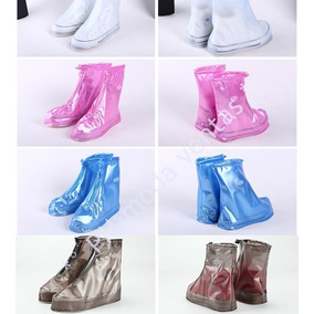 Botas Cubre Zapato Para Lluvia Impermeable Dama Hombr Oferta