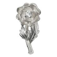Dije Rosa Flor Con Cubic Plata 925 Mujer