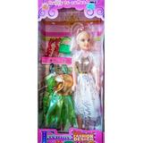 Muñeca Barbie Fashion Show Con 3 Vestidos Oferta Reyes Magos