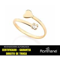 Anel Rommanel Falange Espiral Cristal Folheado Ouro 511895