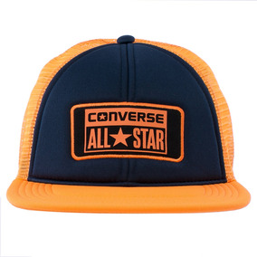 Gorra Mesh Flat Naranja Converse Sport 78
