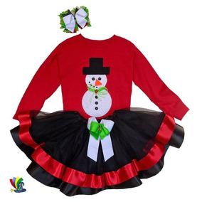 Tutu Niña Navidad Fiesta Talla 5 6 Rojo C negro Doble Liston 1d6d3e2922797