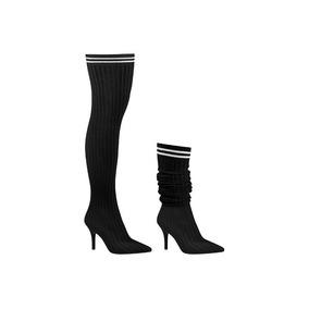 Bota Over The Knee Bico Fino Feminina Vizzano 3061102 Meia