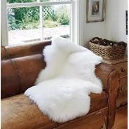 Tapete Decorativo Pelego Fake Branco 90x60 Antiderrapante