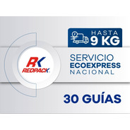 30 Guías Prepagadas Ecoexpress Hasta 9 Kg