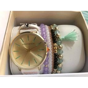 f58ccd8e1c29 Aeropostale Reloj Dama Blanco Tipo - Reloj de Pulsera en Mercado ...