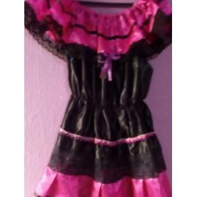 Vestido Para Bailable Rosa Con Negro Para 5 Años