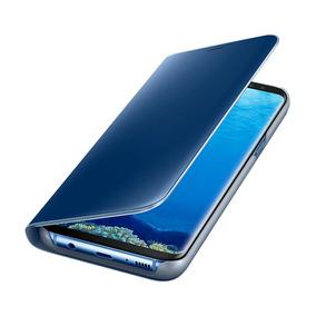 Funda Samsung Clear View Standing Azul Para Galaxy S8 Plus