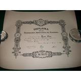 Federacion Argentina De Esgrima . Diploma 1929 .
