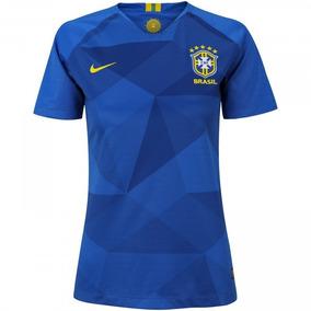 Camisa Seleção Brasileira Feminina Blusa Azul Baby Look 40% 73665e4346a1d