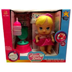 Mini Boneca Baby Dolls Hora Do Faz Xixi Loira - Divertoys