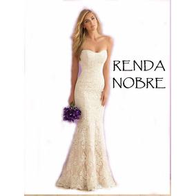 Vestido Noiva Sereia Tomara Caia Longo Tradicional Renda