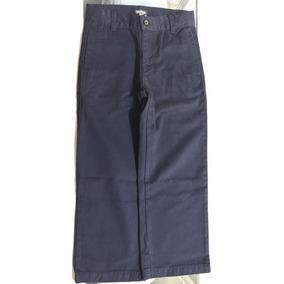 Pantalón Azul Marino Durable,cómodo Corte Recto Tipo Escolar