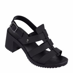 Melissa Flox High Sapato Salto Alto Sandália Nova Ad Preto