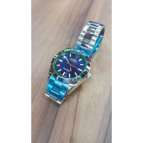 Reloj Rolex Milagus 40mm Cara Azul Automatico