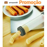 Maquina Manual De Fazer Churros Delicias Prático E Rapido!!!