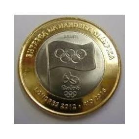 Moeda Abertura Das Olimpiadas (bandeira Olimpica)