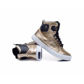 Tenis Sneaker Dourado Soft Ouro Hardcore Footwear