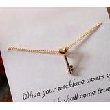Collar Alas Con Forma Llave Angel Fashion Corazon Potter Tb