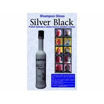 Shampoo Silver Black P/cabelos Brancos E Grisalhos Coiffer