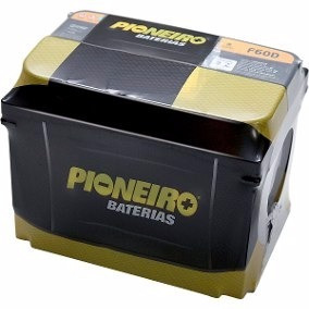 Bateria Carro Pioneiro 60ah 15 Meses De Garantia