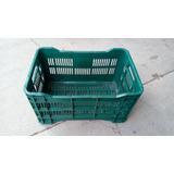 Canasta Plastica Calada Verde Musgo (22lbs De Verduras)