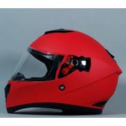 Casco Integral R7 Racing Dominate Solid Rojo Mate Mh&s
