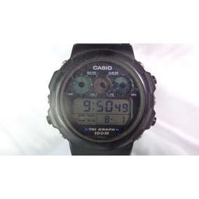57f3f857af7 Relógio Casio Tri Graph Módulo 827 Garantia Relogiodovovô. R  1.000
