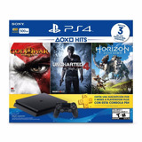Consola Ps4 Hits Bundle 2, 500gb, Control Y 3 Juegos