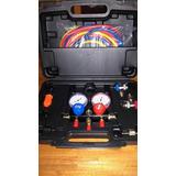 Kit Set Manometro Manifold Carga Aire Condicionado R-134a