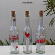 Botella Mensajera Regalo Original Deseos / Festejos / Amor