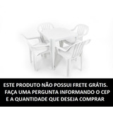Conjunto De Mesa E 4 Cadeiras Plasticas Classic - 182 Kg