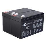 Batería De 8ah Goplus 2 Pcs 12v Para Ups Apc, Adt, Silla...